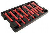 Wiha Insulated Open End Wrench Tray Set, 13 Piece Metric Set - 20196