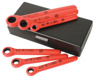 Wiha Insulated Ratchet Wrench 6 Piece Inch Set - 21391