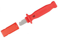 Wiha Insulated Cable Stripping Knife, 35mm Notched Blade - 15050-1