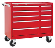 "Kennedy K1800 39"" 10-Drawer Roller Cabinet, Industrial Red - 310XR"