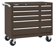 "Kennedy K1800 39"" 10-Drawer Roller Cabinet, Brown Wrinkle - 310XB"