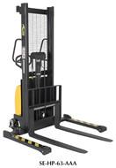 Vestil Combination Hand Pump/Electric Stacker Adjustable Forks - SE-HP-63-AA