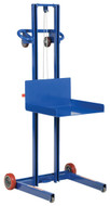 "Vestil Low Profile Lite Load Lift, Steel, 20"" x 20"" Platform, 1/4"" to 55"" Service Range, Winch Operation - LLPW-500-FW"