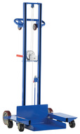 "Vestil Low Profile Lite Load Lift, Steel, 20"" x 20"" Platform, 1/4"" to 58"" Service Range, Winch Operation - LLPW-500-4SFL"