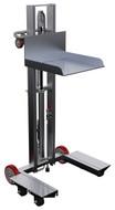 "Vestil Low Profile Lite Load Lift, Aluminum, 19-1/2"" x 20"" Platform, 1/4"" to 48-1/4"" Service Range, Foot Pump Operation - ALLPH-500-4SFL"