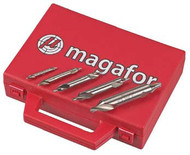 Magafor 5 pc. HSS Drills and Countersink Sets