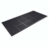 Wearwell OutFront Reversible Entrance Mat Black, 7/16in x 3ft x 6ft - 227.716x3x6BK