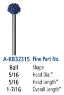 Foredom Ball 3/32″ Shank Typhoon Burs Fine Grit - A-KB32315