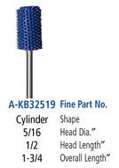 Foredom Cylinder 3/32″ Shank Typhoon Burs Fine Grit - A-KB32519