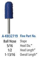 Foredom Ball Nose 3/32″ Shank Typhoon Burs Fine Grit - A-KB32719