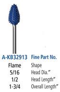 Foredom Flame 3/32″  Shank Typhoon Burs Fine Grit - A-KB32913