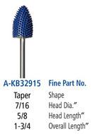 Foredom Taper 3/32″  Shank Typhoon Burs Fine Grit - A-KB32915