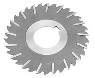 "TMX Metal Slitting Saw, Plain Tooth with Side Chip Clearance, 5"" dia., 1/4"" face width, 1"" hole size - 5-748-386"