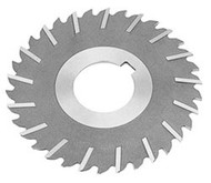 "TMX Metal Slitting Saw, Staggered Teeth with Side Chip Clearance, 4"" dia., 1/4"" face width, 1"" hole size - 5-749-330"