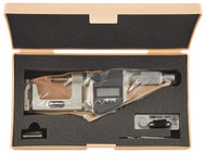 Mitutoyo Uni-Mike Digital Micrometer, Interchangeable Anvil Type, 25-50mm w/ Ratchet Stop - 317-252-30