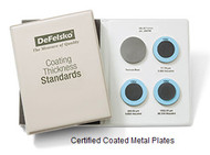 DeFelsko Certified Coated Metal Plate, S4 Standard, Epoxy on Steel (Ferrous) - STDS4