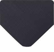 Wearwell Heavy Duty Corrugated Runners Black, 1/4in Thick x 3ft Width