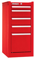 Kennedy K1800 5-Drawer Side Cabinet, Industrial Red - 185XR