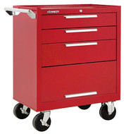 "Kennedy K1800 27"" 3-Drawer Roller Cabinet, Industrial Red - 273XR"