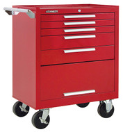 "Kennedy K1800 27"" 5-Drawer Roller Cabinet, Industrial Red - 275XR"