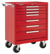 "Kennedy K1800 27"" 7-Drawer Roller Cabinet, Industrial Red - 277XR"