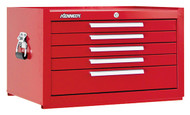 "Kennedy K1800 27"" 5-Drawer Mechanics' Chest, Industrial Red - 285XR"