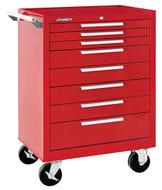 "Kennedy K1800 27"" 8-Drawer Roller Cabinet, Industrial Red - 378XR"