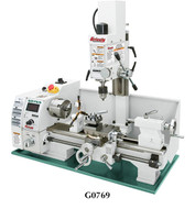 "Grizzly 8"" x 16"" Variable-Speed Lathe with Milling Head - G0769"