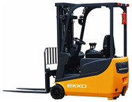 "EKKO EK15A 3 Wheel Electric Forklift, 3300 lbs. Load Capacity, 177"" Lift Height, Side Shift - EK15A"