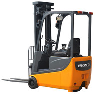 "EKKO EK13A 3 Wheel Electric Forklift, 3300 lbs. Load Capacity, 138"" Lift Height - EK13A"