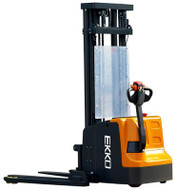 "EKKO EB20E Full Powered Straddle Stacker, 4400 lbs. Load Capacity, 177"" Lift Height - EB20E"