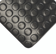Wearwell Radial Runners, Black, 1/8in Thick x 4ft Width
