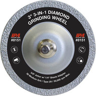 "IPA 3"" 3-in-1 Diamond Grinding Wheel - 8151"