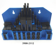 """Precise 58 Piece Clamping Kit for 7/16"""" T-Slot - 3900-2112"""
