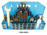 """Precise 58 Piece Clamping Kit for 5/8"""" T-Slot w/T-Slot Cleaner & Wrench - 3900-0001"""