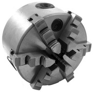 "Precise 4"" 6-Jaw Self Centering Plain Back Lathe Chuck - 3900-4550"