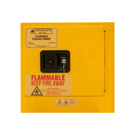 Durham 2 Gallon, Manual Closing, Yellow Flammable Safety Cabinet - 1002M-50