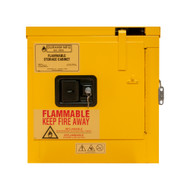 Durham 2 Gallon, Self Closing, Yellow Flammable Safety Cabinet - 1002S-50