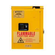 Durham FM Approved 4 Gallon, Self Closing, Yellow Flammable Safety Cabinet - 1004S-50
