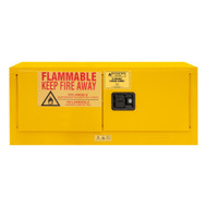 Durham FM Approved 12 Gallon, Manual Closing, Yellow Flammable Safety Cabinet - 1012MH-50