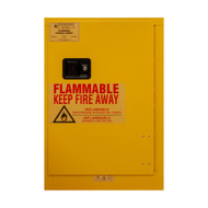 Durham FM Approved 24 Aerosol Cans, Manual Closing, Yellow Flammable Safety Cabinet - 1012MA-50