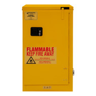 Durham FM Approved 16 Gallon, Self Closing, Yellow Flammable Safety Cabinet - 1016S-50