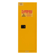 Durham FM Approved 22 Gallon, Manual Closing, Yellow Flammable Safety Cabinet - 1022M-50