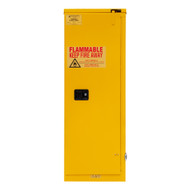 Durham FM Approved 22 Gallon, Self Closing, Yellow Flammable Safety Cabinet - 1022S-50