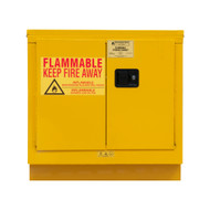 Durham FM Approved 22 Gallon, Manual Closing, Yellow Flammable Safety Cabinet - 1022UCM-50