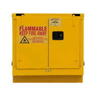 Durham FM Approved 22 Gallon, Self Closing, Yellow Flammable Safety Cabinet - 1022UCS-50