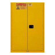 Durham FM Approved 30 Gallon, Manual Closing, Yellow Flammable Safety Cabinet - 1030MPI-50