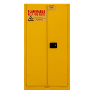 Durham FM Approved 55 Gallon, Manual Closing, Yellow Flammable Safety Cabinet - 1055MDSR-50