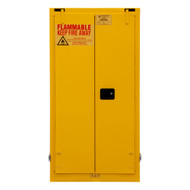 Durham FM Approved 55 Gallon, Self Closing, Yellow Flammable Safety Cabinet - 1055SDSR-50