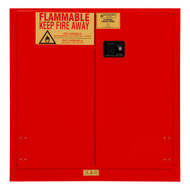 Durham FM Approved 30 Gallon, Manual Closing, Red Flammable Safety Cabinet - 1030M-17